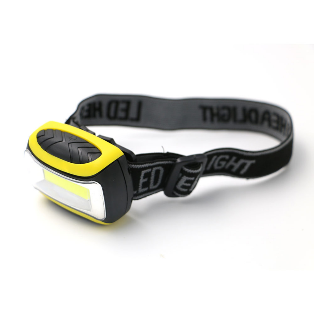 COB LED Outdoor Mini Headlamp Headlight Head Torch 3 Modes Battery Powered